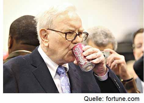 Warren Buffett hat Coca Cola für Berkshire Hathaway gekauft. Ein klassisches Beispiel für unterbewertete Aktien kaufen.