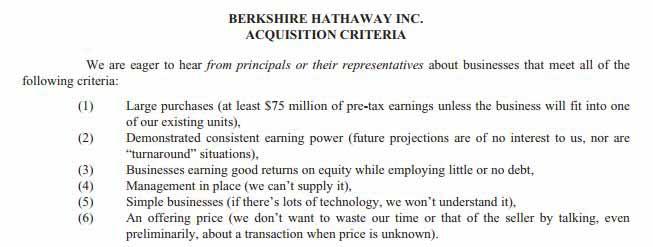 Die Kaufkriterien von Buffett zeigen, dass Qualitätsaktien bei ihm in Fokus stehen.