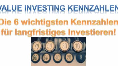 Value Investing Kennzahlen – Die 6 besten für langfristiges Investieren!