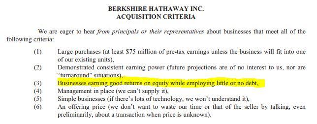 Warren Buffett Kaufkriterien