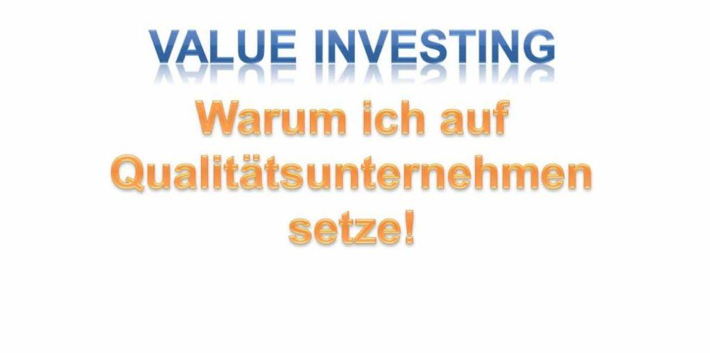 Beste Aktien finden und Qualitätsunternehmen: Warum ich auf Qualitätsunternehmen setze!